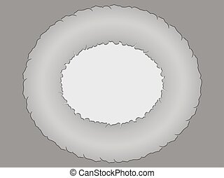 decorative gray oval frame