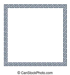 Decorative Greek frame for design