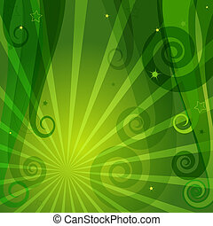 Decorative green background