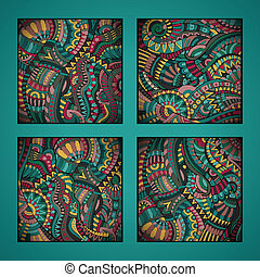 ethnic vector pattern set