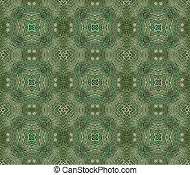 Decorative Green Pattern Background