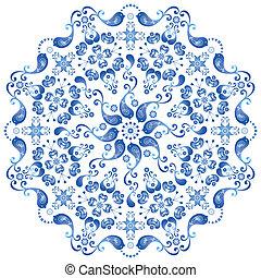 Decorative gzhel plate