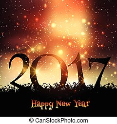 decorative happy new year background 1611