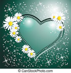 Decorative heart - Card with decorative heart
