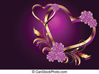 Decorative hearts - Card with decorative hearts
