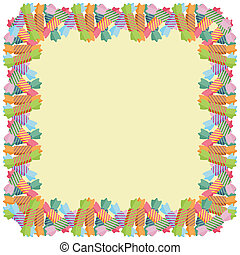 frame with candies vector
