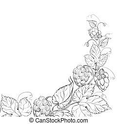 Decorative hops cover. - Decorative hops cover design....