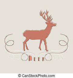 Decorative illustration of deer