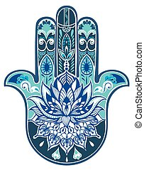 Decorative illustration of hamsa - Vector Indian hand drawn...