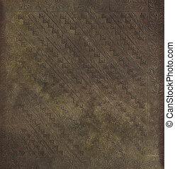 Decorative imprinted grungy parchment