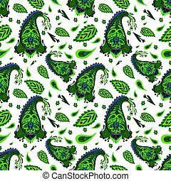 Decorative Indian Seamless Pattern