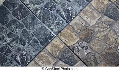 decorative interior backdrop made of two-tone stone
