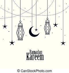 decorative islamic ramadan kareem background