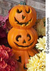 Decorative Jack-o-Lanterns