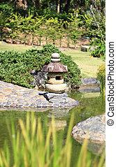 Decorative Japanese home garden