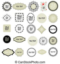 Decorative labels set