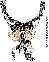 Decorative lace bow