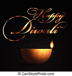decorative lamp background for diwali