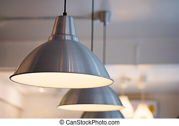 Decorative lamp hanging from the ceiling