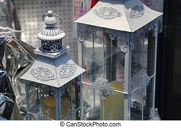 Decorative lamps close-up