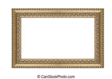 Decorative Large Empty Gold Frame