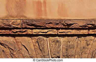 Decorative Layered Stone Wall