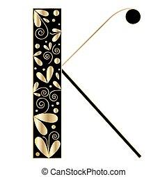 Decorative letter shape. Font type A