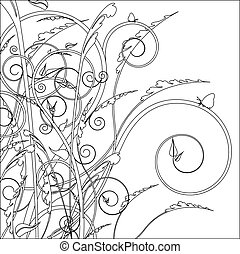Decorative line drawing