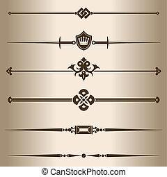 Decorative lines. Elements for design - decorative line...