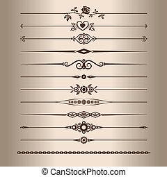 Decorative lines - Elements for a vintage design - ...
