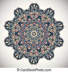 Decorative mandala design - Decorative background with a...
