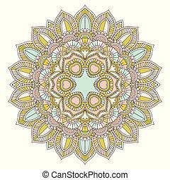 Decorative mandala design - Decorative background with an...