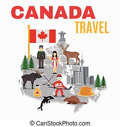 Decorative Map Canada Poster