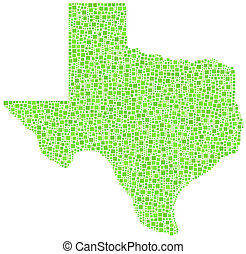 Decorative map of Texas