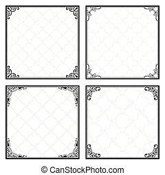 Decorative menu frames