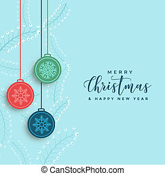 decorative merry christmas poster design background