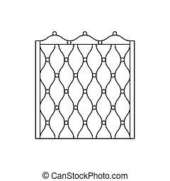 Decorative Metal Grid Fencing Design