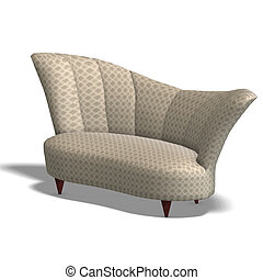decorative modern sofa - a modern comfy sofa. 3D render with...