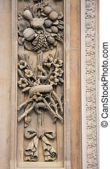 Decorative motif on the facade of cathedral in Milan