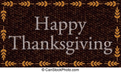 Decorative multicolor video with text Happy Thanksgiving -...