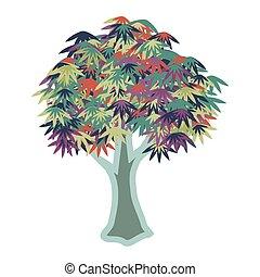 Decorative multicolored tree