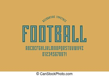 Decorative narrow sans serif font in sport style