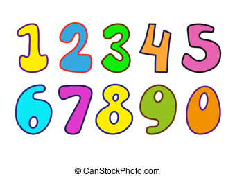 numbers - Decorative numbers for children\'s magazines