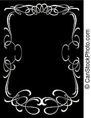 Decorative old-fashioned frame.