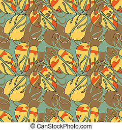 decorative orange pattern