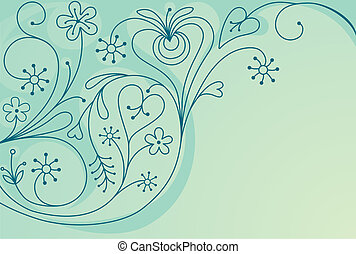 Decorative orante background