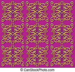 decorative oriental wallpaper background - Seamless vintage...