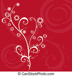 Decorative ornament - Abstract floral design