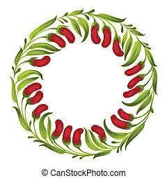decorative ornament circle red berries