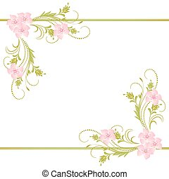 Decorative ornament - Decorative corner floral ornament